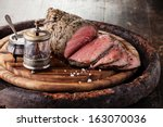 Roast Beef On Cutting Board...