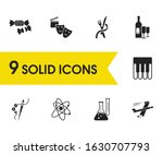 hobby icons set with...