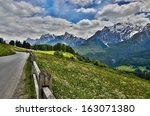 swiss alps engadin view to... | Shutterstock . vector #163071380