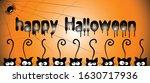 happy halloween lettering with...   Shutterstock .eps vector #1630717936