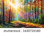 Autumn Oil Painting. Autumn...