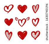 heart shapes isolated on a... | Shutterstock .eps vector #1630740196