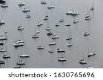 Aerial View Of Boats And Yachts ...