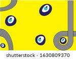evil eyes set hand drawn blue | Shutterstock .eps vector #1630809370