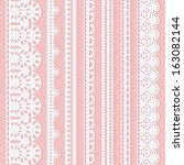 set of seven seamless white... | Shutterstock . vector #163082144