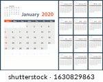 2020 vector planning calendar...   Shutterstock .eps vector #1630829863
