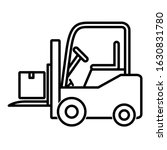 forklift icon design. forklift... | Shutterstock .eps vector #1630831780