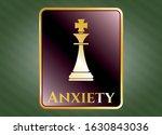 golden emblem or badge with... | Shutterstock .eps vector #1630843036