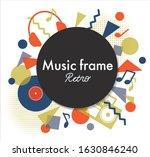 music collage retro style frame   Shutterstock .eps vector #1630846240