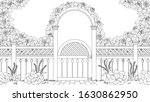 vector illustration  entrance... | Shutterstock .eps vector #1630862950