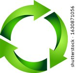 recycle icon 3d green gradient... | Shutterstock .eps vector #1630871056