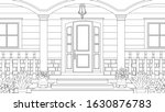 vector illustration  porch with ... | Shutterstock .eps vector #1630876783
