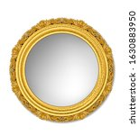 oval gold vintage picture frame  | Shutterstock .eps vector #1630883950