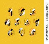 vector numerals. set of... | Shutterstock .eps vector #1630895893