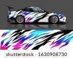 racing car decal wrap vector... | Shutterstock .eps vector #1630908730