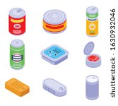 tin can icons set. isometric...   Shutterstock .eps vector #1630932046