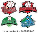 baseball emblem   Shutterstock .eps vector #163093946
