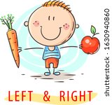 kid learning left and right...   Shutterstock .eps vector #1630940860
