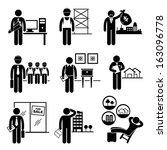construction real estates jobs... | Shutterstock . vector #163096778