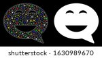 glowing mesh glad smiley... | Shutterstock .eps vector #1630989670