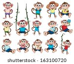 illustration of a group of... | Shutterstock .eps vector #163100720