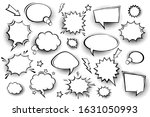 collection of empty comic... | Shutterstock .eps vector #1631050993