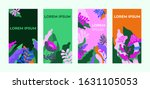 colorful set of abstract... | Shutterstock .eps vector #1631105053