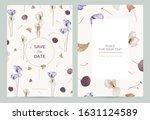 wedding invitation card in the...   Shutterstock .eps vector #1631124589
