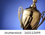 close up of a silver trophy... | Shutterstock . vector #163112699