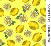 yellow seamless pattern with... | Shutterstock .eps vector #1631136070