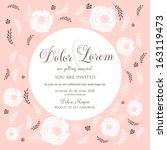 wedding invitation card with... | Shutterstock .eps vector #163119473