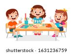 happy cute little kids boy and... | Shutterstock .eps vector #1631236759