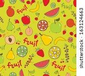 fruit seamless bright vector... | Shutterstock .eps vector #163124663