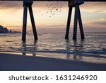 Panama City Pier At Dawn With...