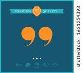 quote symbol icon. graphic... | Shutterstock .eps vector #1631254393
