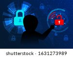 cyberattack and malware...   Shutterstock .eps vector #1631273989
