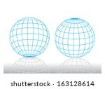 Two Blue Dimensional Grid Balls
