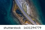 Aerial View Of A Bridge In The...