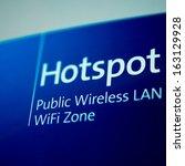 public free wi fi hotspot sign... | Shutterstock . vector #163129928