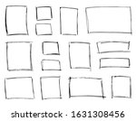 doodle frames set. hand drawn... | Shutterstock .eps vector #1631308456