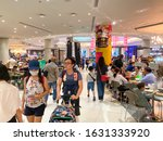 Small photo of Bangkok / Thailand - Jan 31 , 2020 : Tourists dwindle at Paragon department store , people wear mask to protect from Corona Virus disease spread around Asia