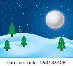 christmas greeting card. merry... | Shutterstock . vector #163136408