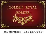 gold border frame with corner... | Shutterstock .eps vector #1631377966