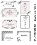 set of ornate vector frames and ...   Shutterstock .eps vector #1631387086