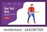 guitarist landing page vector...