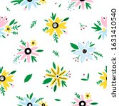 floral hand drawn seamless... | Shutterstock .eps vector #1631410540