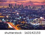 downtown los angeles ... | Shutterstock . vector #163142153