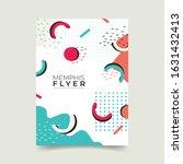 memphis abstract poster....   Shutterstock .eps vector #1631432413