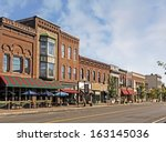 a photo of a typical small town ... | Shutterstock . vector #163145036