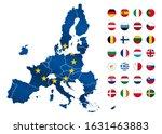 map of european union in 2020...   Shutterstock .eps vector #1631463883